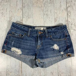 Pink Victoria Secret Jean Shorts size 0 Distressed